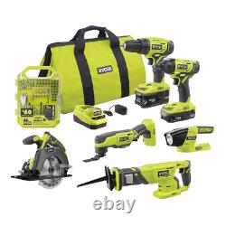 18V Cordless Power Tool and Drill Combo and Impact Drive Kit (65-Piece) Set +ONE