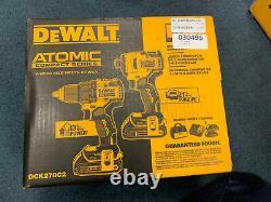 2020 DEWALT DCK278C2 ATOMIC 20V MAX 2-Tool Compact Brushless Combo Kit