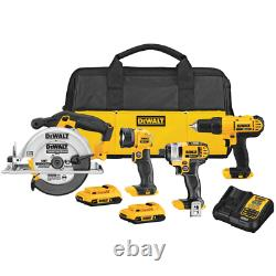 20-Volt MAX Cordless Combo Kit (4-Tool) with (2) 20-Volt 2.0Ah Batteries Charg