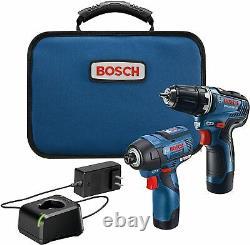 BOSCH GXL12V-220B22 12V Max 2-Tool Brushless Combo Kit, Fast Shipping