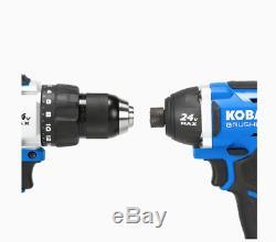 BRAND NEW Kobalt 2-Tool 24Volt Max Brushless Power Tool Combo Kit with Soft Case