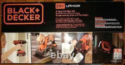 Black & Decker 20V MAX 1.5 Ah Cordless Li-Ion 4-Tool Combo Kit BD4KITCDCRL New
