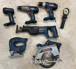 Bosch 18v 6 Tool Cordless Combo with Charger +2 Batteries (Drill/Driver/Sawithetc.)
