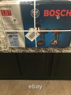Bosch CLPK222-181 18-Volt 4.0Ah 2-Tool Impact Driver and Hammer Drill Combo Kit
