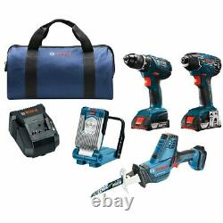 Bosch CLPK496A-181 18V 4 Tool Cordless Compact Combo Kit Reconditioned