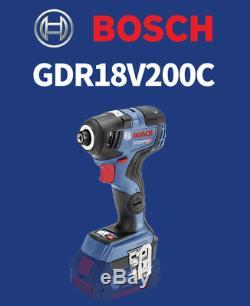 Bosch GDR 18V-200C Impact Drill 200Nm 3,400rpm 126mm EC Brushless Bare Tool Only