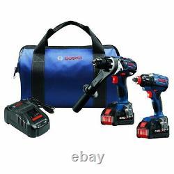 Bosch GXL18V-239B25 18V 2 Tool Combo Hammer Drill/Driver Kit Reconditioned