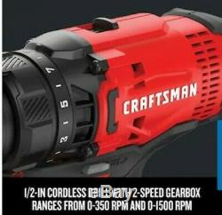 CRAFTSMAN V20 2-Tool 20-Volt Max Power Tool Combo Kit with Soft Case Charger
