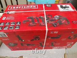 Craftsman 20V Lith-Ion 8-Tool Combo Kit CMCK800D2 BRAND NEW New