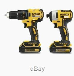 DEWALT 2-Tool 20-Volt Max Brushless Power Tool Combo Kit with Soft Case Charger