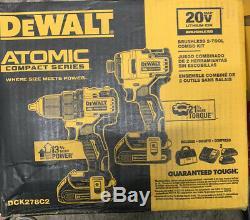 DEWALT ATOMIC 20v MAX Li-Ion Brushless Compact Drill/Impact 2-Tool Kit DCK278C2