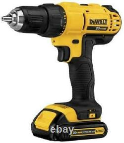 DEWALT Cordless Drill Combo Kit, (2) 20-Volt Lith-Ion 2-Tool 1.5AH DCK240C2 NEW