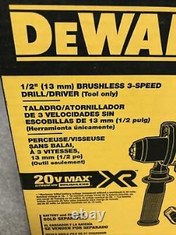 DEWALT (DCD991B) 20V MAX XR Brushless Drill/Driver with 3 Speeds Bare Tool