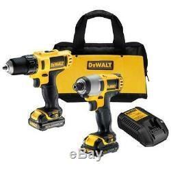 DeWALT DCK211S2 12V MAX Lithium Ion Drill / Impact Combo Tool Kit
