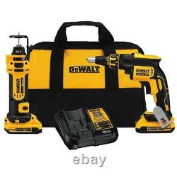 DeWALT DCK263D2 20V MAX 1/4-Inch Brushless Screwgun and Cut-Out Tool Combo