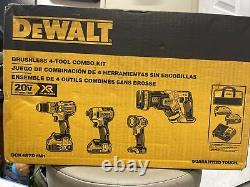 DeWalt 20V Max Brushless XR 4-Tool Combo Kit DCK487D1M1 (PFR) New NIB
