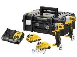 DeWalt DCK2110L2T-GB 12V 2 x 3Ah Brushless Sub Compact Drill Driver and Impact