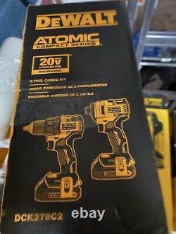 DeWalt DCK278C2 Atomic 20V MAX Brushless Cordless 2 Tool Combo Kit