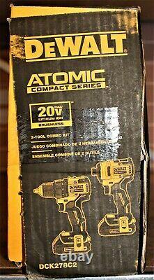 Dewalt DCK278C2 2-Tool ATOMIC 20V MAX Cordless Drill & Impact Combo Kit