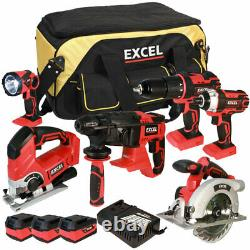Excel 18V Cordless 6 Piece Tool Kit 3 x 5.0Ah Batteries & Smart Charger EXL5657