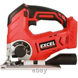 Excel 18V Power Tool Cordless Twin Kit + 2 x 5.0Ah Batteries Charger Bag EXL5122