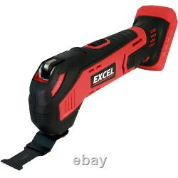 Excel EXL5065 18V 10 Piece Power Tool Kit with 4 x Batteries & Charger in Bag