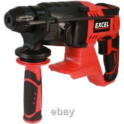 Excel EXL5147 18V 12 Piece Power Tool Kit 4 x 5.0Ah Batteries Smart Charger Bag