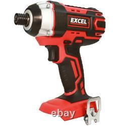 Excel EXL5148 18V 12 Piece Power Tool Kit 4 x 2.0Ah Batteries Smart Charger Bag