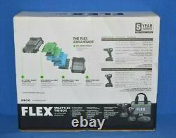 Flex 24v Brushless Tool Set Drill Driver And Impact Driver Kit FXM201-2A