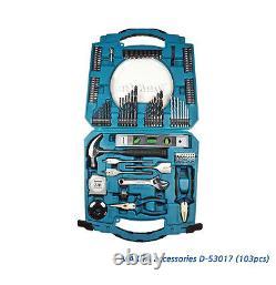 Genuine Makita Mechanic Multi Hand Tool Kit Box & Driver Drill Bit Set 103 PCS