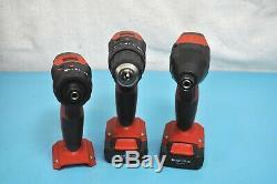 HIlti 3pc Tool Set 3536731 Hammer Driver SF 2H-A, Impact SID 2-A, Drill SFD 2-A