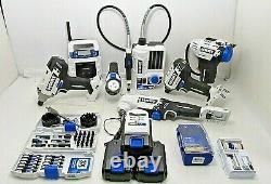 Hart 20v 7pc Cordless Power Tool Set 3 Batt. Packs Carrying Bag