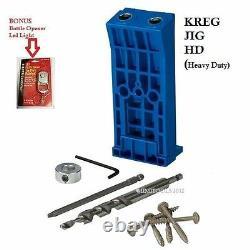 KREG Tool KJHD Duty Hole Deck Screw Jig Kit 6 HD Driver Bit + BONUS