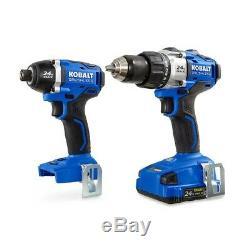 Kobalt 24V MAX Brushless 2 Tool Combo Kit #0672827 Cordless Batter Soft Case
