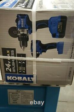 Kobalt 2-Tool 24-Volt Max Brushless Hammer Drill Combo Charger and Battery incl