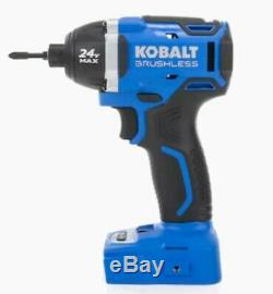 Kobalt 2-Tool 24-Volt Max Brushless Power Tool Combo Kit with Soft Case Charger