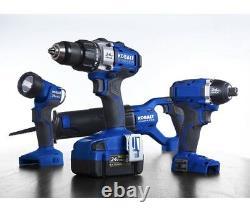 Kobalt 4-Tool 24V Max Lithium Ion Brushless Cordless Combo Kit KLC4024A