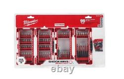 M12 Cordless Combo Kit Tool 12Volt Li-Ion Batteries Charger SHOCKWAVE Bit Set