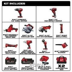 M18 Cordless Combo Set Kit High Impact Tool Bags 18Volt Li-Ion Batteries Charger