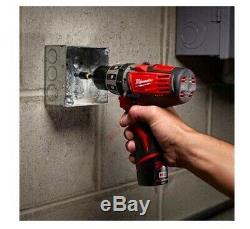 MILWAUKEE 2411-80 12V M12 FUEL Cordless 3/8 in Hammer Drill Driver (tool only)
