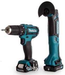 Makita 12v CXT 3pc Kit Combi Hammer Drill + Impact Driver + Multi Tool 2 Battery