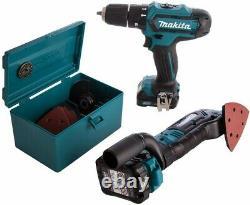 Makita 12v CXT 3pc Kit Combi Hammer Drill + Impact Driver + Multi Tool 3 Batts
