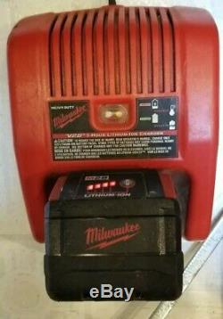 Milwaukee 0928-29 M28 28 Volt Cordless 4 Tools Drill Saws Combo Deluxe Kit Used