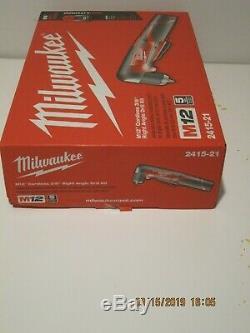 Milwaukee 2415-21 M12 Li-Ion 3/8 Right Angle Drill Driver Kit-FREE SHIP NEW