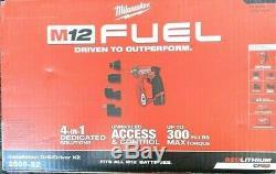 Milwaukee 2505-22 M12 FUEL 4-In1 4 Tool Head 3/8 Installation Drill/Driver Kit