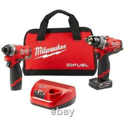 Milwaukee 2596-22 M12 FUEL 12V 2-Tool Drill Driver/Hex Impact Driver Combo Kit