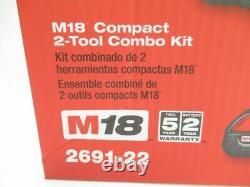 Milwaukee 2691-22 M18 Li-Ion 2-Tool Combo Kit New