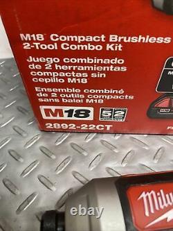 Milwaukee 2892-22CT M18 18V 2-Tool Drill Driver & Impact Driver Combo Kit (P-16)