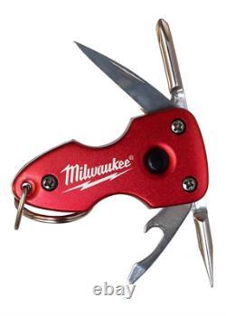 Milwaukee Bluetooth Headphones & Multi-Tool Flashlight Keychain Lot