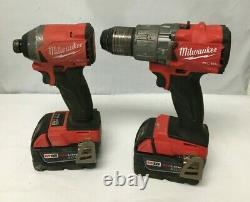 Milwaukee FUEL 2997-22 M18 18-Vlt 2-Tool Hammer Drill/Impact Driver Kit VG RA104